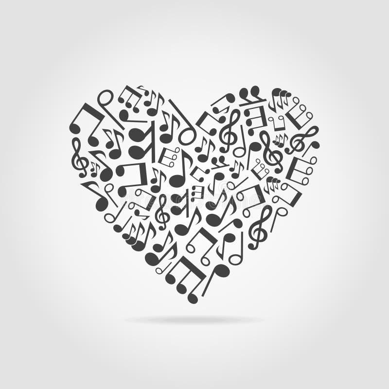 Corazón musical stock de ilustración