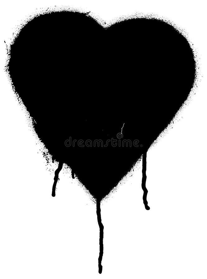 Corazón negro de la pintada libre illustration