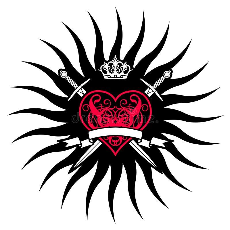 Corazón oscuro ilustración del vector
