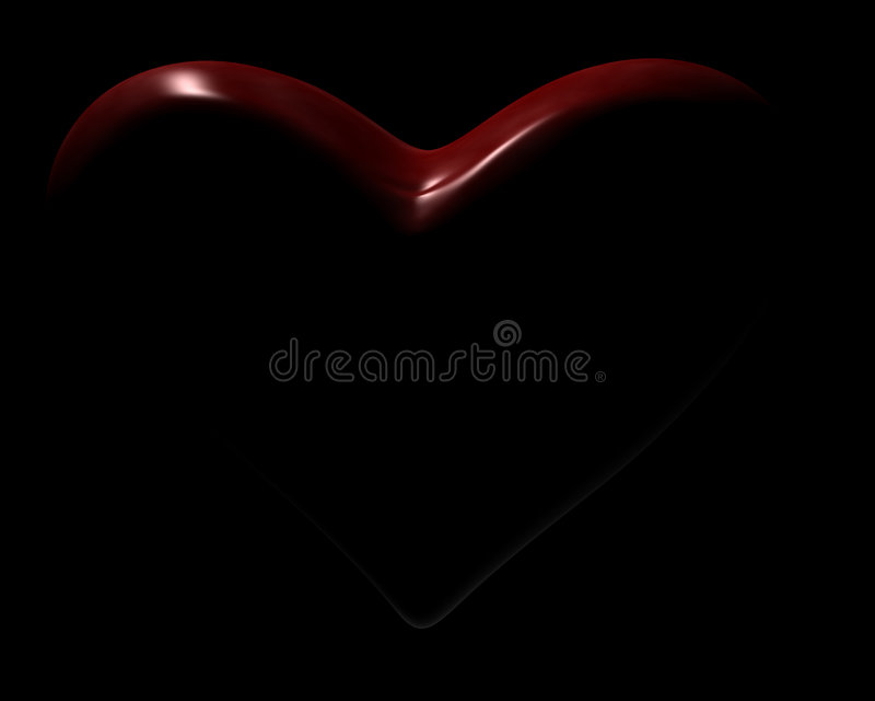 Corazón oscuro fotografía de archivo