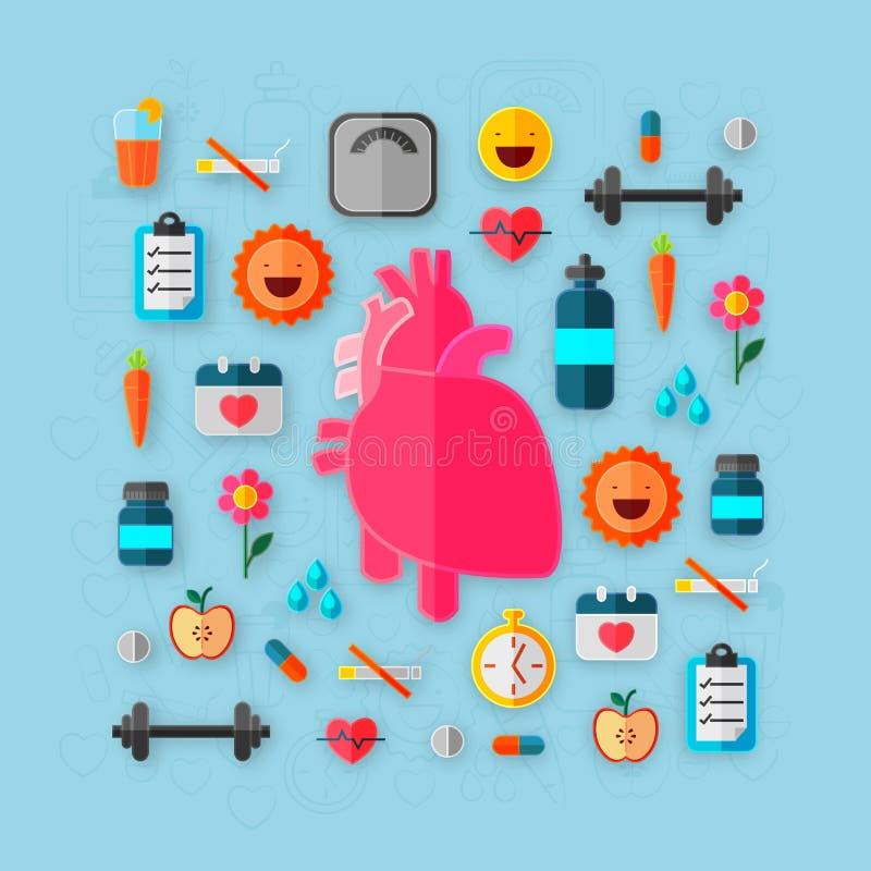 Corazón para la salud y médico humanos libre illustration