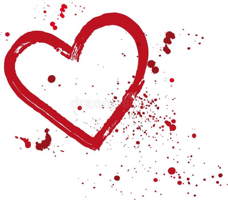 Corazón pintado ilustración del vector