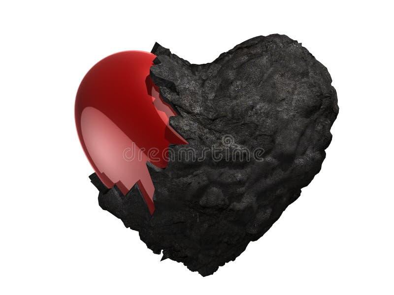 Corazón quebrado stock de ilustración