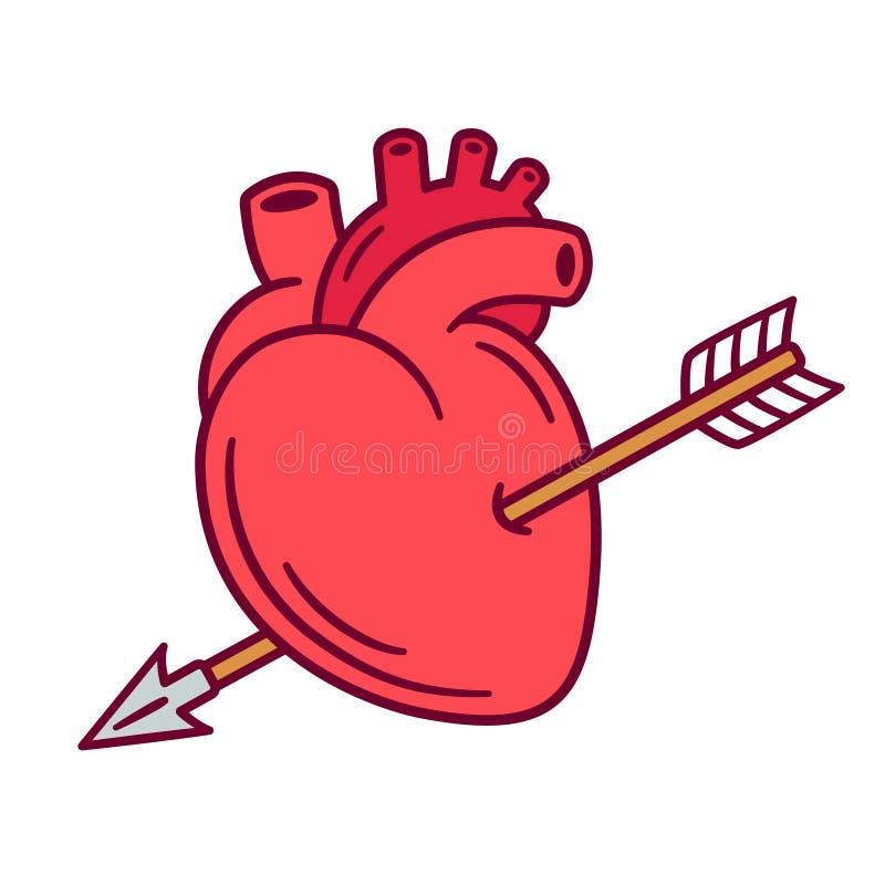 Corazón realista con la flecha libre illustration