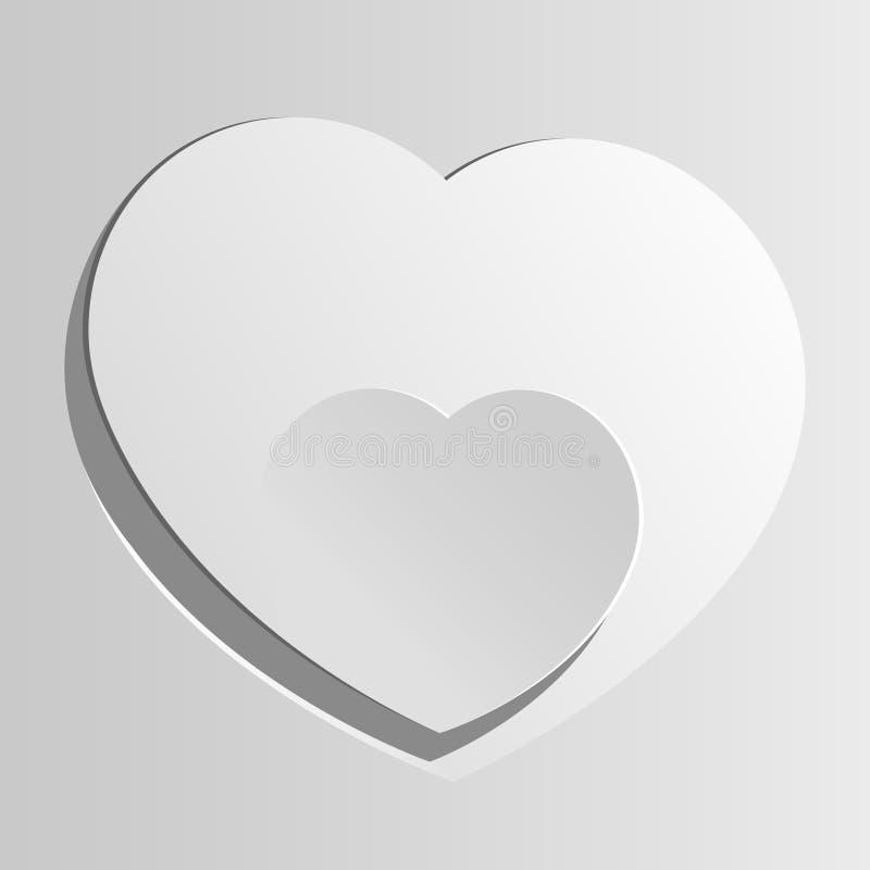 Corazón realista dos cortado del papel. libre illustration