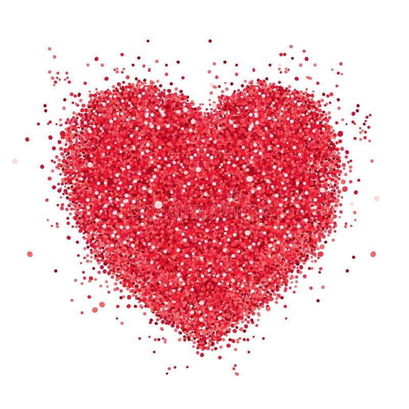 Corazón rojo ilustración del vector