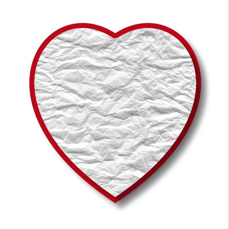 Corazón rojo abstracto del papel machacado libre illustration