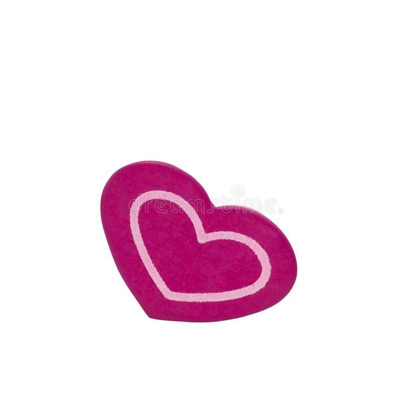 Corazón rojo aislado en el fondo blanco imagen de archivo libre de regalías