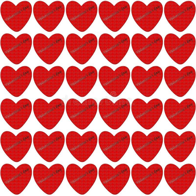 Corazón rojo con textura grabada en relieve dentro libre illustration
