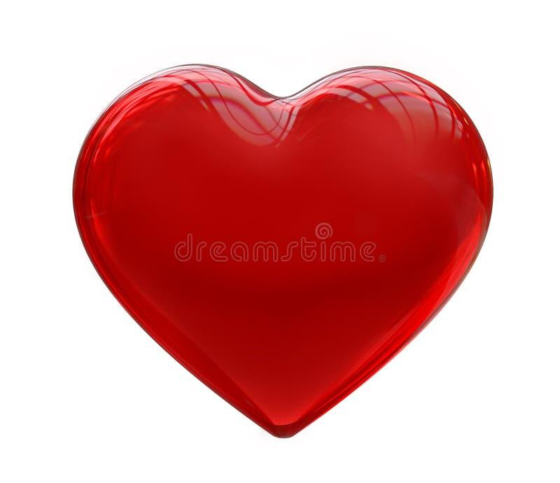 Corazón rojo de cristal ilustración del vector