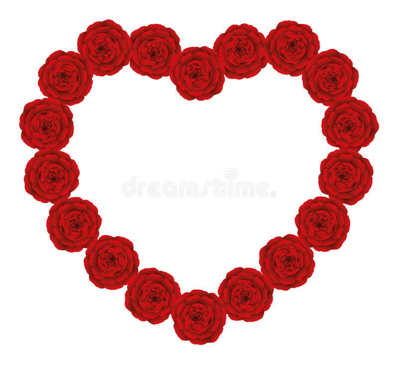 Corazón rojo de las rosas libre illustration