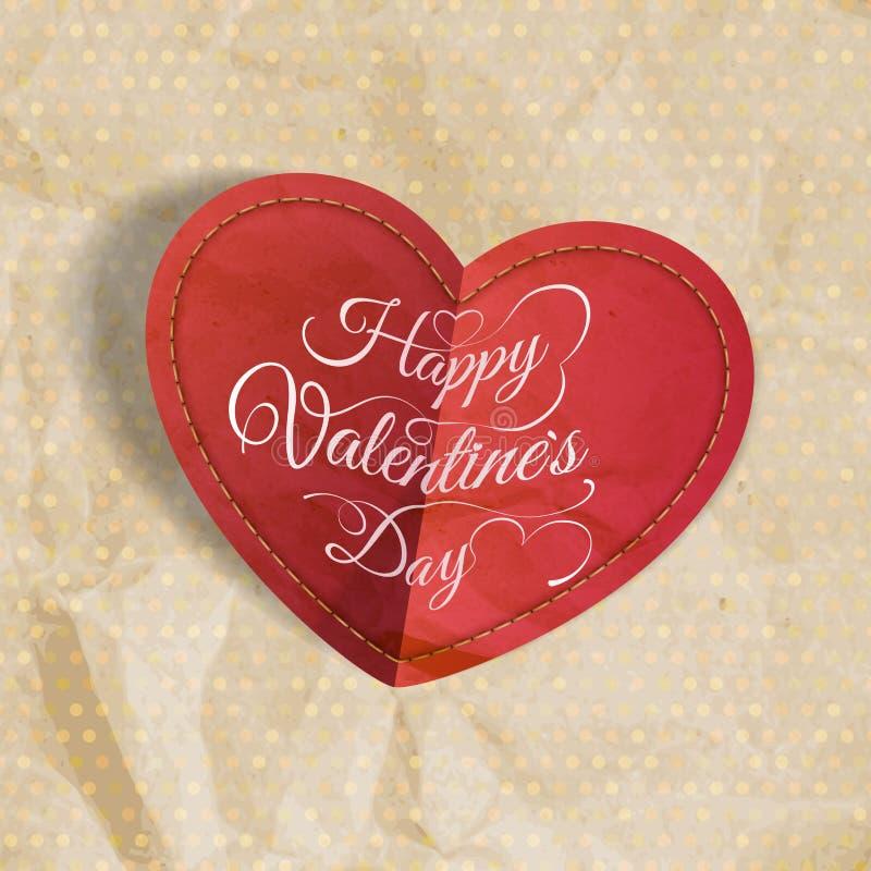 Corazón rojo en el papel del vintage EPS 10 libre illustration