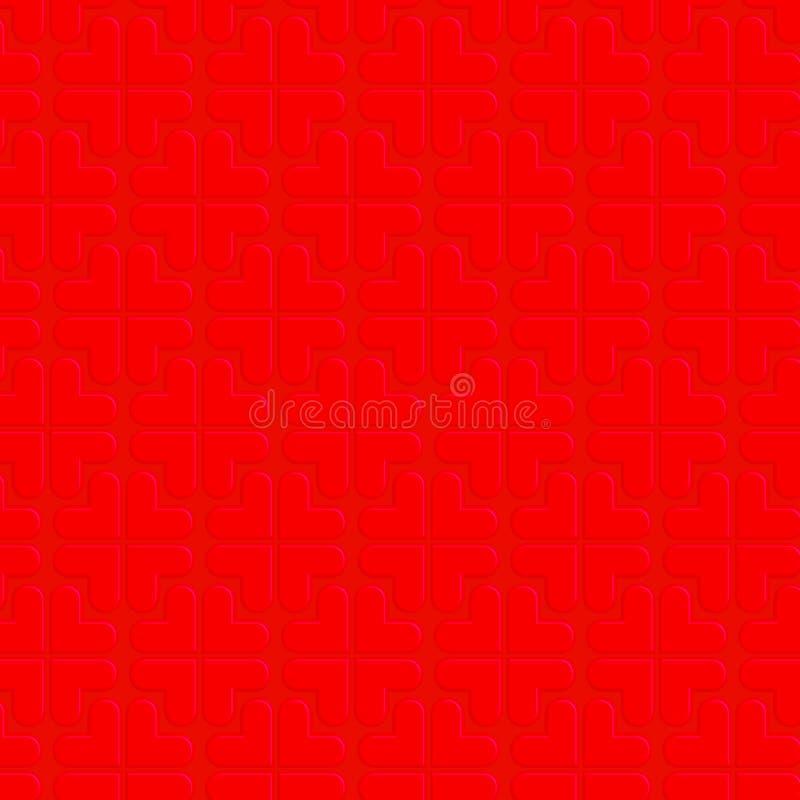 Corazón rojo en fondo rojo imagen de archivo