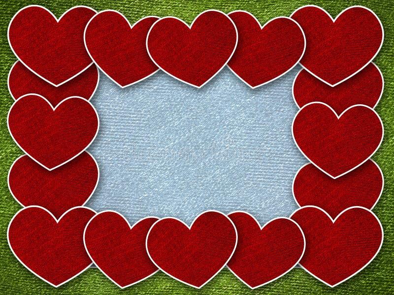 Corazón rojo en fondo de la tarjeta de la tarjeta del día de San Valentín ilustración del vector