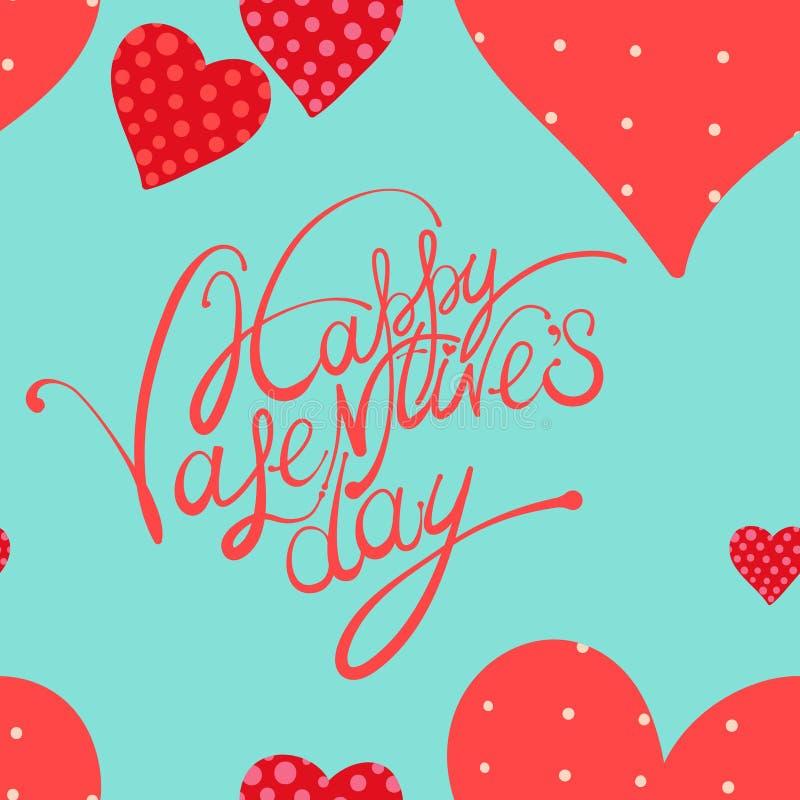 Corazón rojo, fondo del día de tarjeta del día de San Valentín ilustración del vector