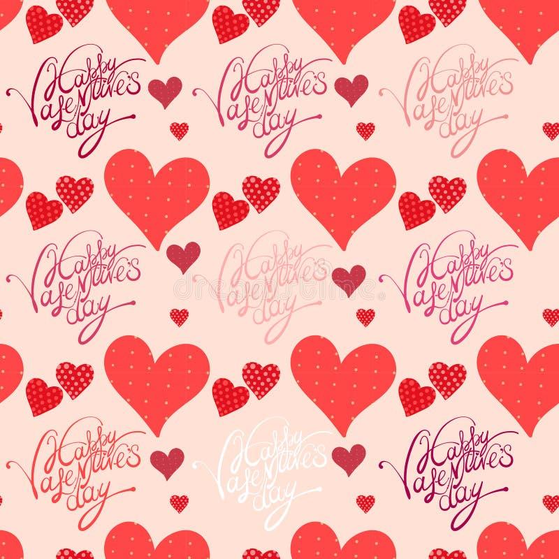Corazón rojo, fondo del día de tarjeta del día de San Valentín stock de ilustración