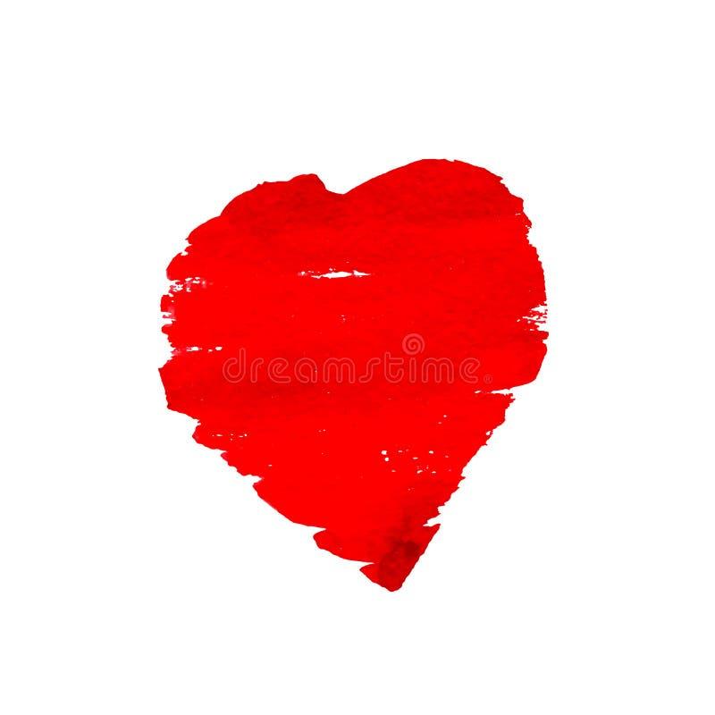 Corazón rojo pintado a mano Elemento del vector para su diseño ilustración del vector