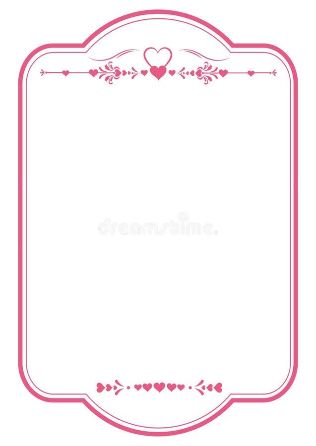 Corazón Rojo Valentine\' Marco De S Imagen de archivo - Imagen de ...