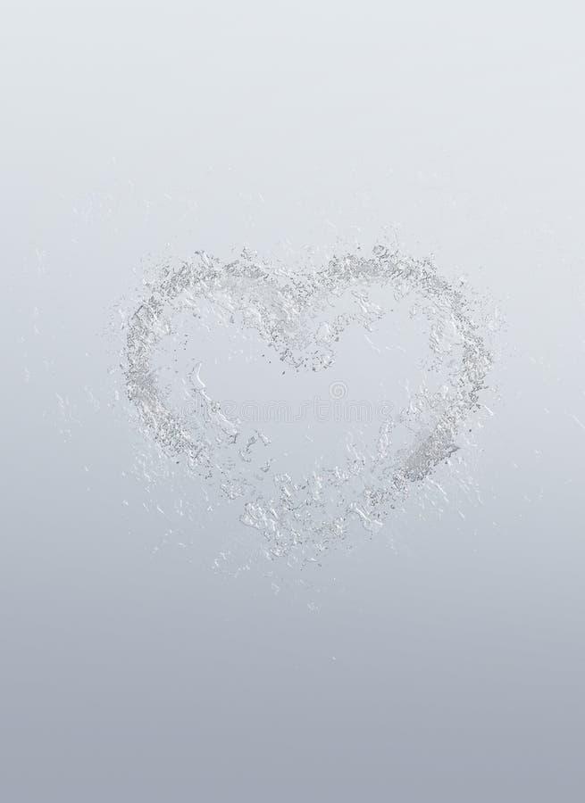 Corazón romántico formado de burbujas del agua foto de archivo libre de regalías