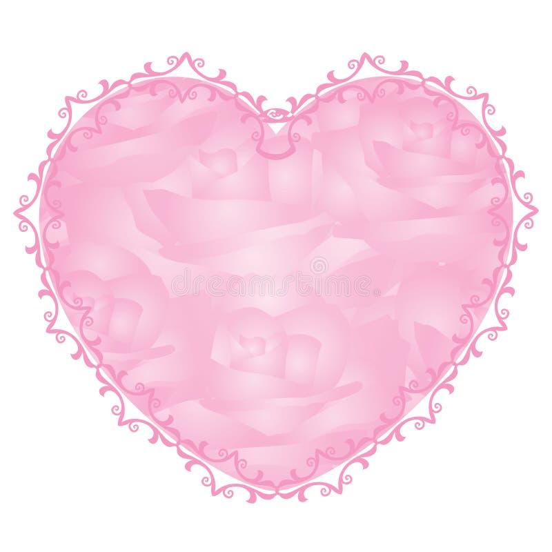 Corazón rosado ilustración del vector