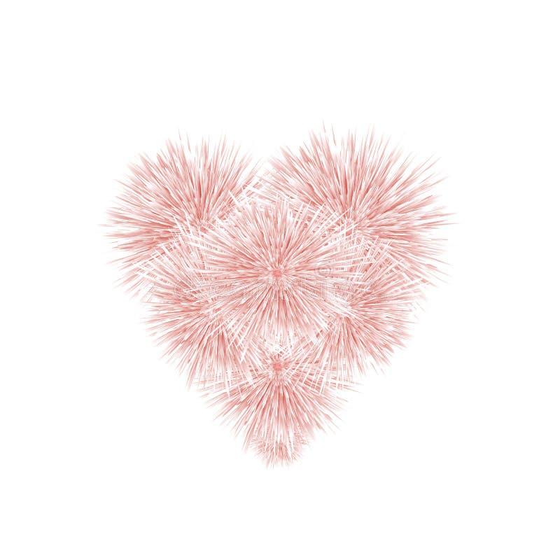 Corazón rosado de la piel suave stock de ilustración