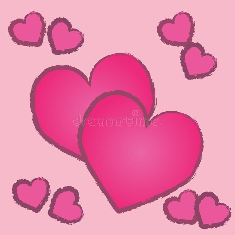 Corazón rosado del color fotos de archivo