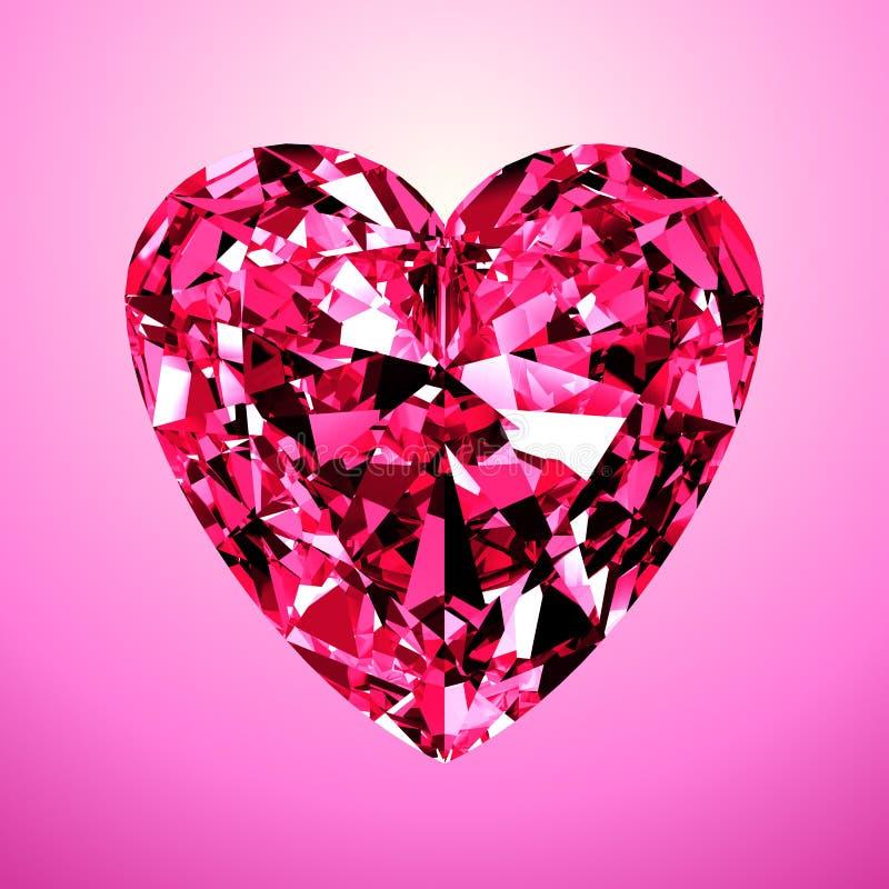 Corazón rosado del diamante libre illustration
