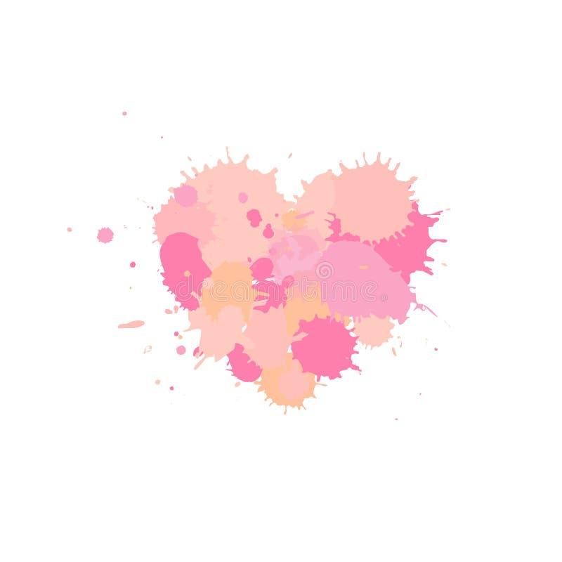 Corazón rosado, elemento del vector para su diseño ilustración del vector