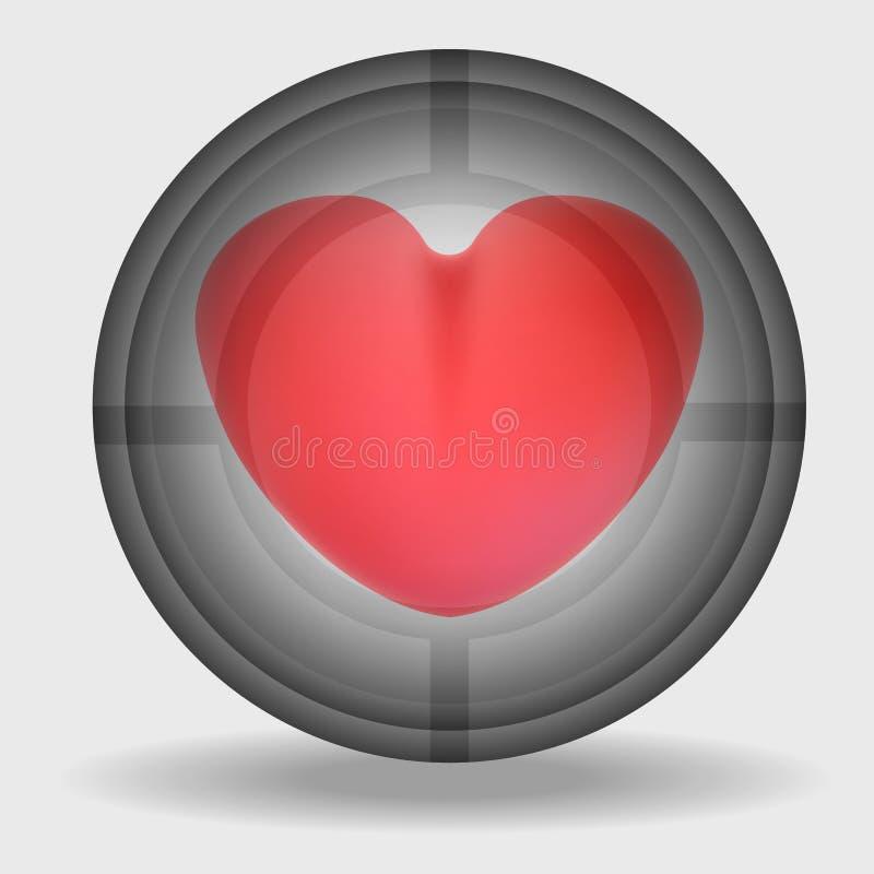 Corazón rosado en la vista libre illustration