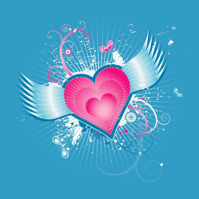 Corazón rosado, ilustración del vector ilustración del vector