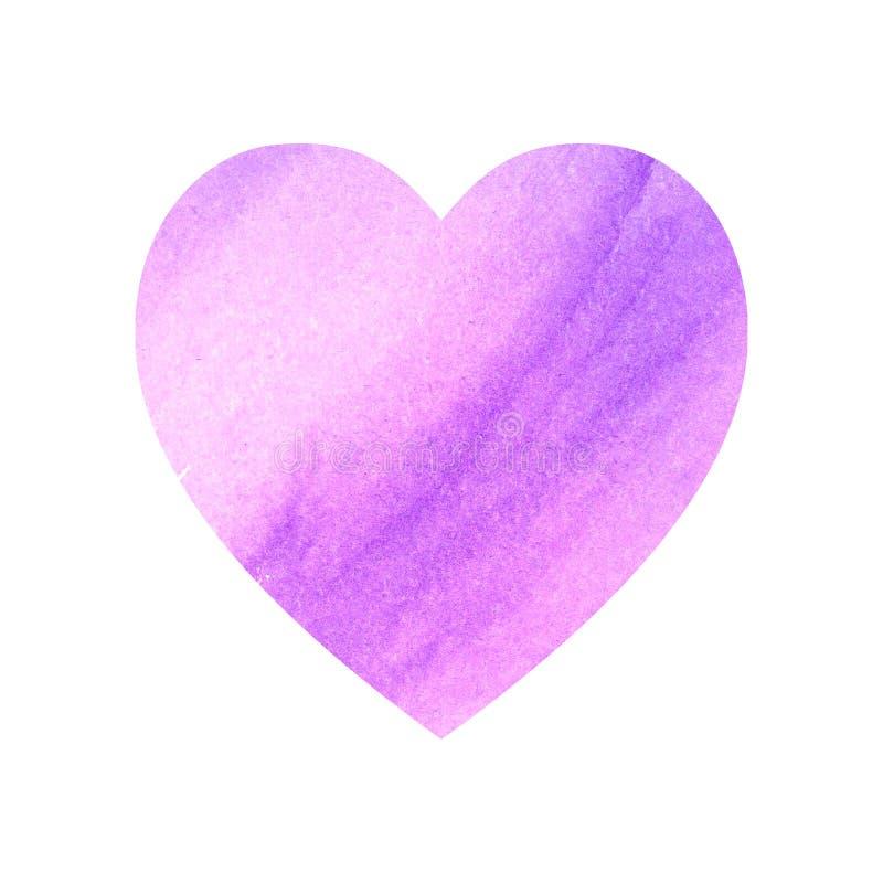 Corazón rosado violeta de la acuarela libre illustration