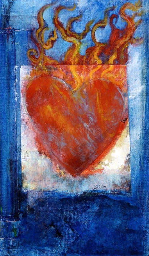 Corazón sagrado stock de ilustración