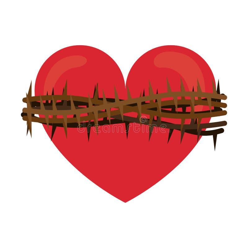 Corazón sagrado de Jesús stock de ilustración