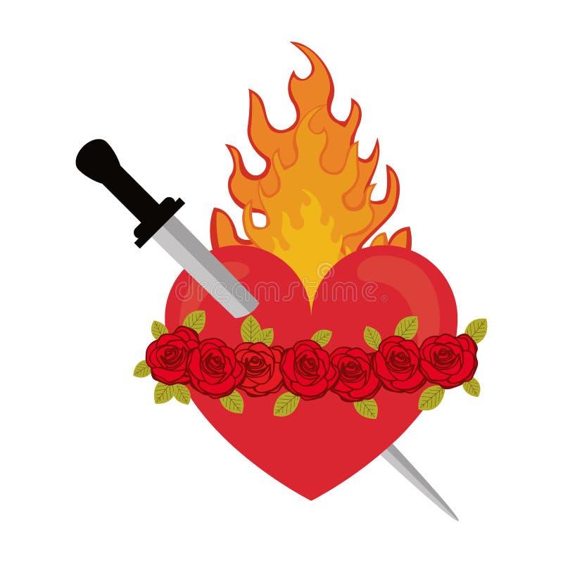Corazón sagrado de Jesús ilustración del vector