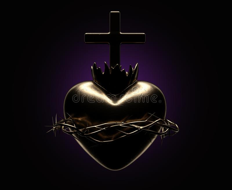 Corazón sagrado de Jesus Casting ilustración del vector