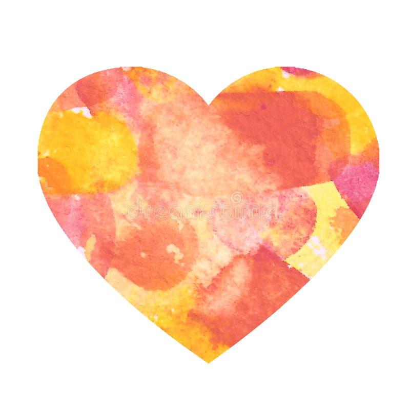Corazón San Valentín amor divertido y delicado patrón agua color rojo flores flor ilustración del vector