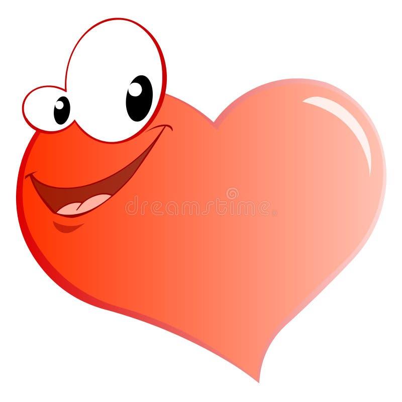 Corazón sonriente stock de ilustración