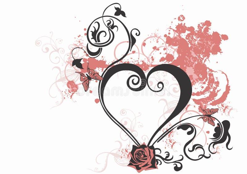 Corazón sucio stock de ilustración