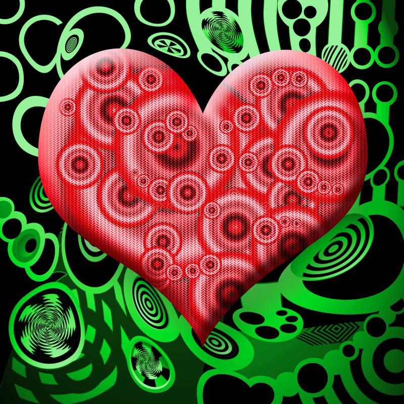 Corazón tóxico stock de ilustración