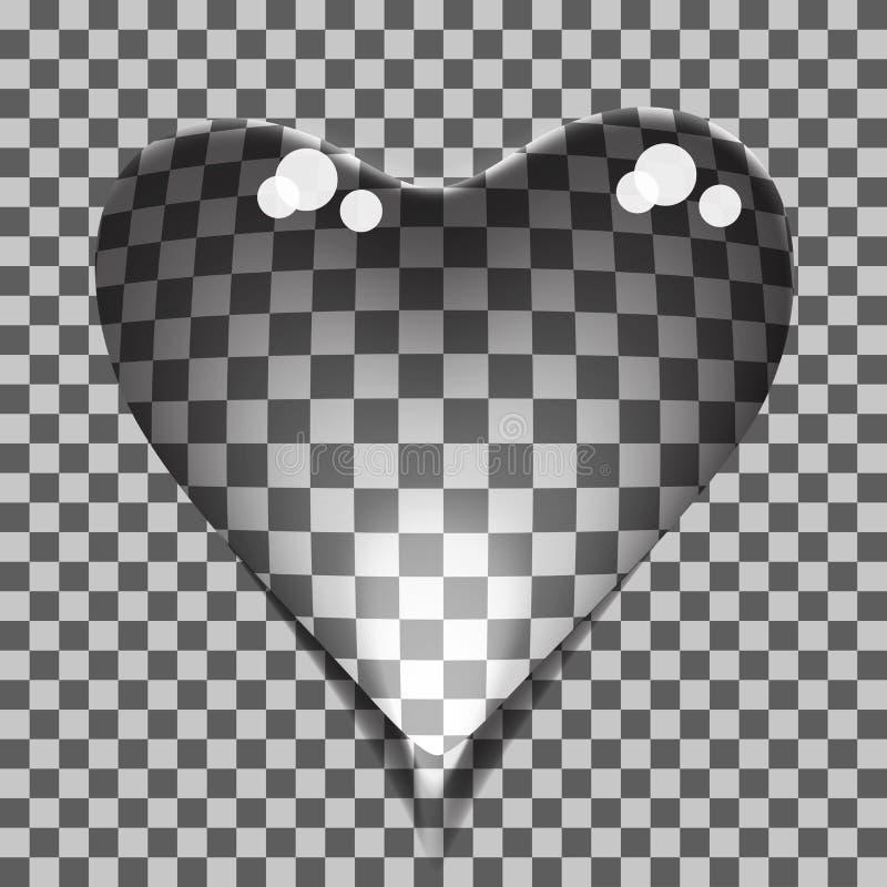 Corazón transparente de las burbujas ilustración del vector
