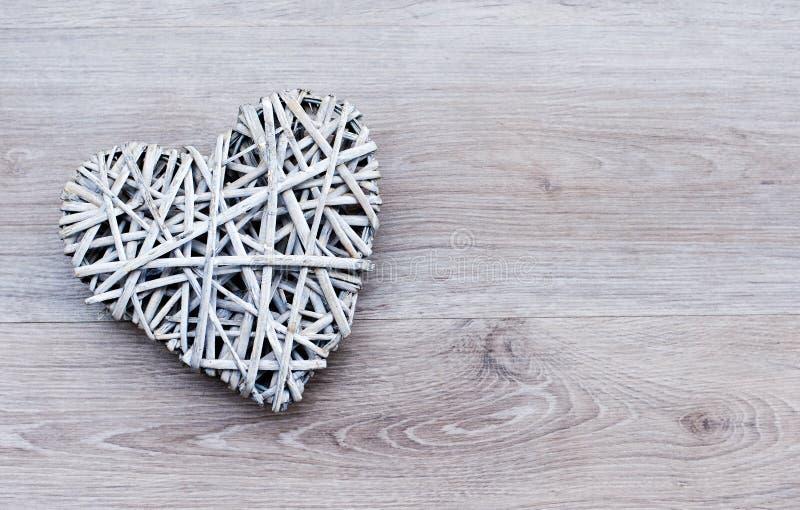 Corazón trenzado fotografía de archivo libre de regalías