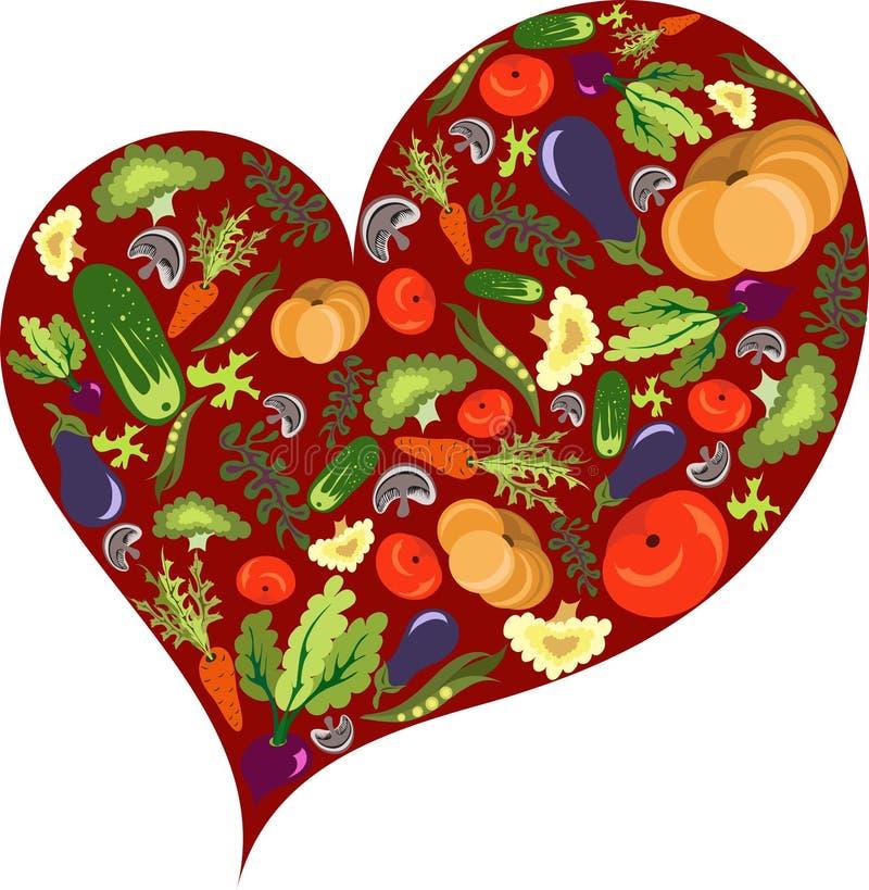 Corazón vegetal sano fotografía de archivo