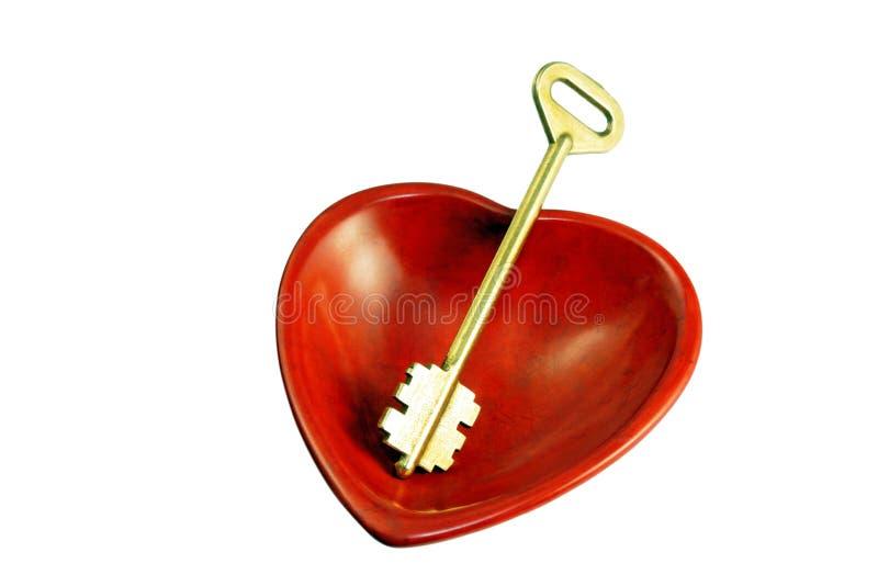 Corazón y clave foto de archivo libre de regalías