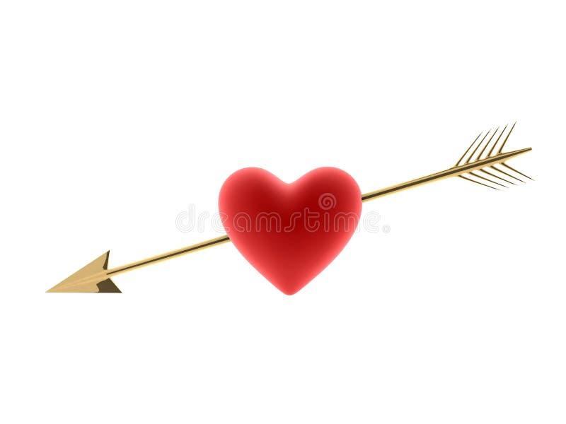 Corazón y flecha ilustración del vector