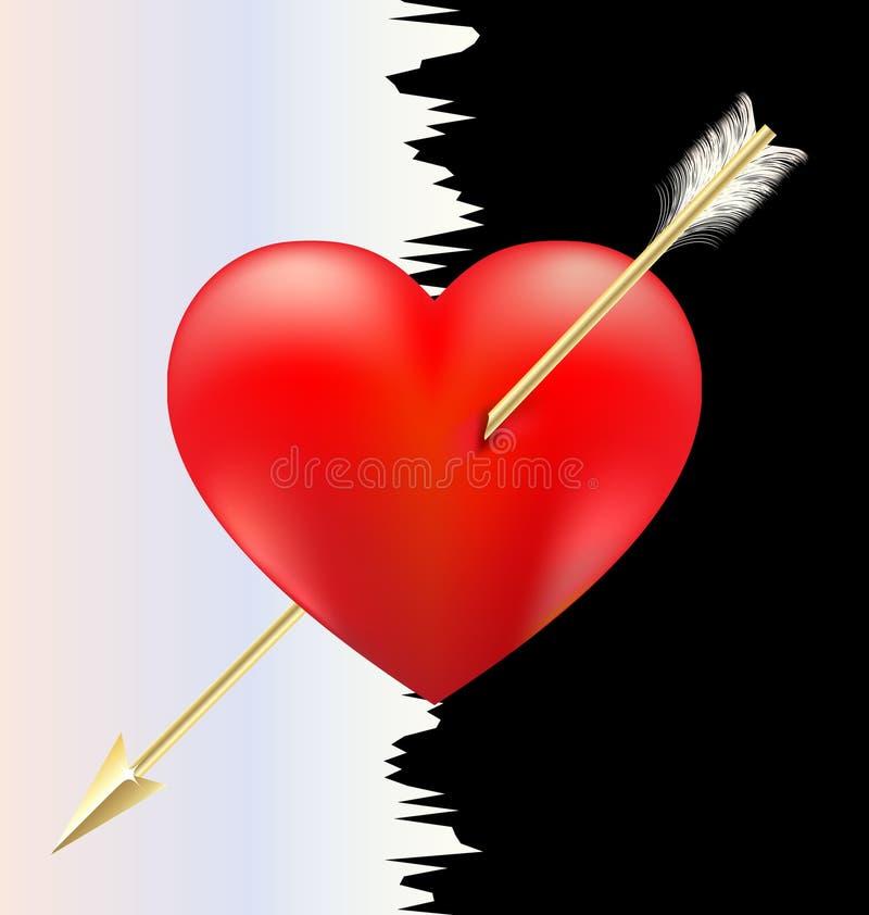 Corazón y flecha libre illustration