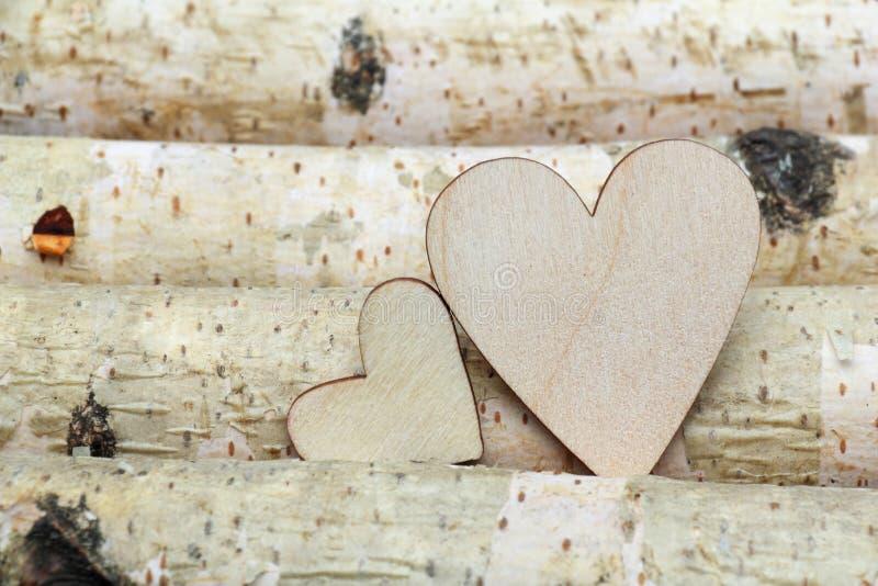 Corazón y fondo de madera fotografía de archivo libre de regalías