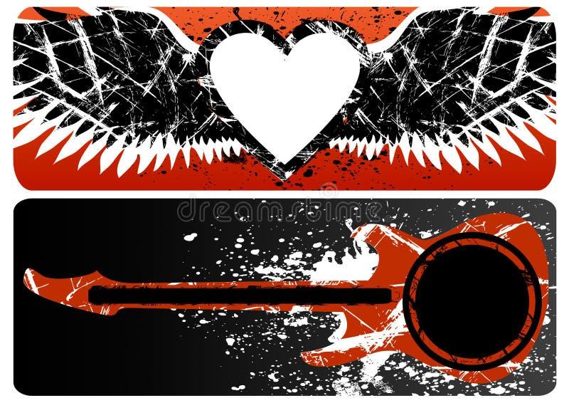Corazón y guitarra libre illustration