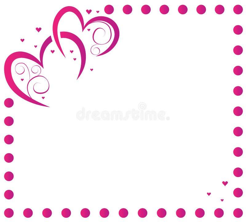 Corazón Y Marco Para El Día De Tarjeta Del Día De San Valentín ...