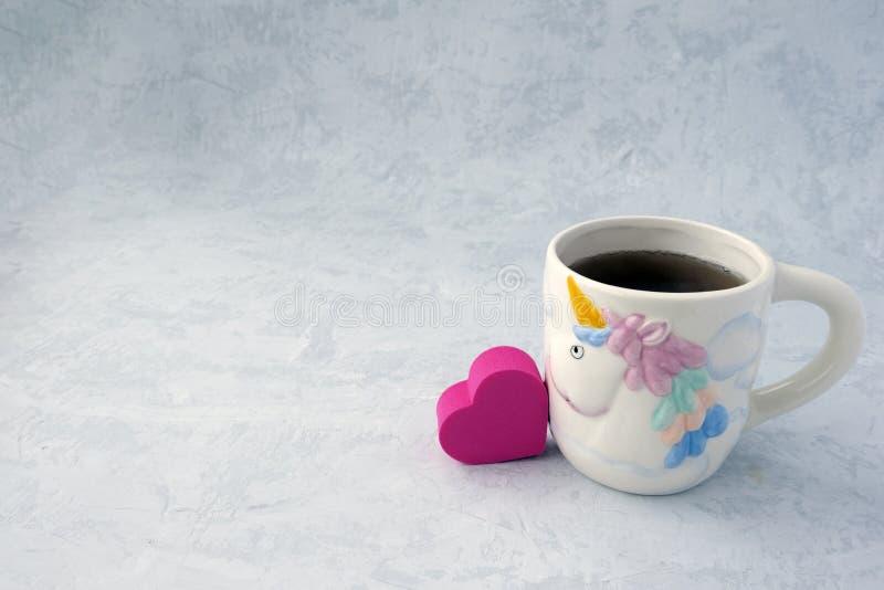 Corazón y té fotografía de archivo