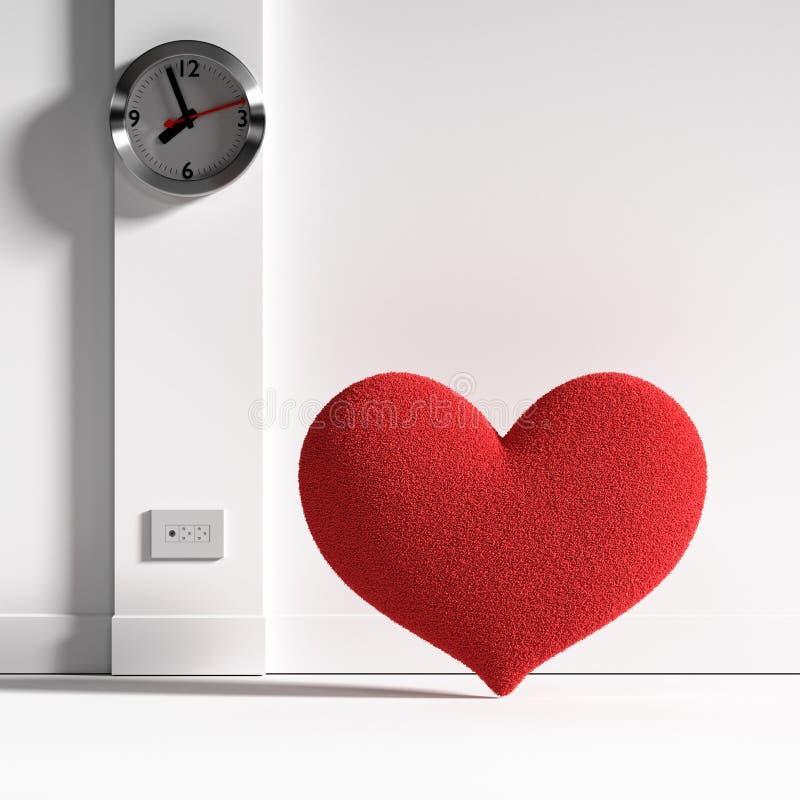 Corazón y tiempo ilustración del vector